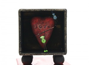 Robots with a heart shadowbox