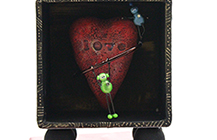 Robots with heart shadowbox